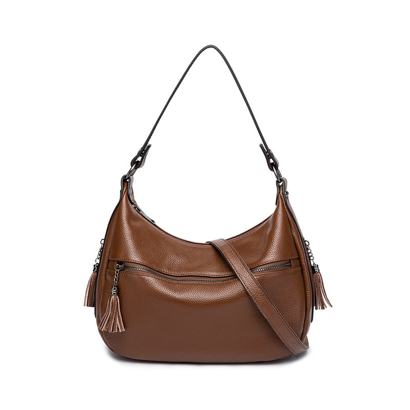 EGL061 Fashion elegant genuine cow leather hobo bags women handbags 2020