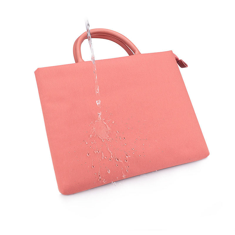 EGLT021 Custom business office travel waterproof women briefcase laptop bag pink