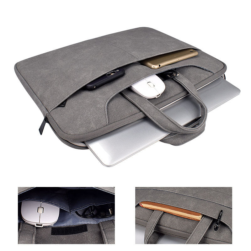 EGLT027 New waterproof PU Leather business office slim laptop bag 15 inch for men
