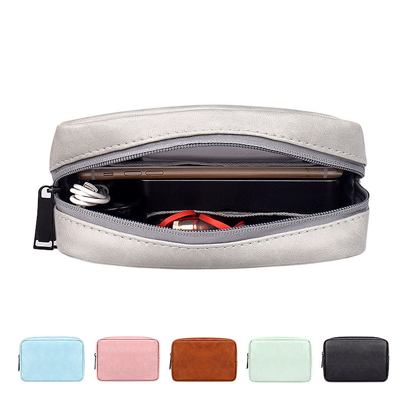 EGLT043 Custom logo travel electronics accessories usb storage bag cable organizer pouch