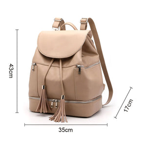 EGM003 New 2020 mummy baby backpack pu leather waterproof diaper bag
