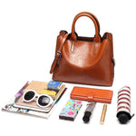 Load image into Gallery viewer, EM411 Ladies pu leather shoulder tote bags fashion women handbag