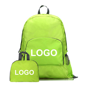 FB001 Custom logo 30 low moq nylon packable daypack light weight foldable backpack waterproof