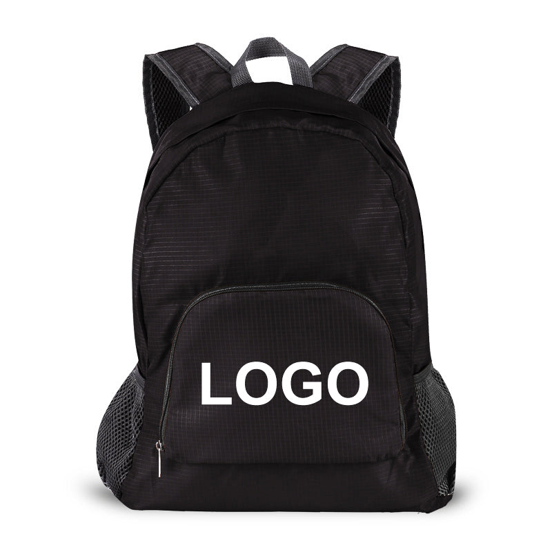 FB002 Custom logo 30 low moq waterproof foldable bagpack daypack packable folding backpack bag