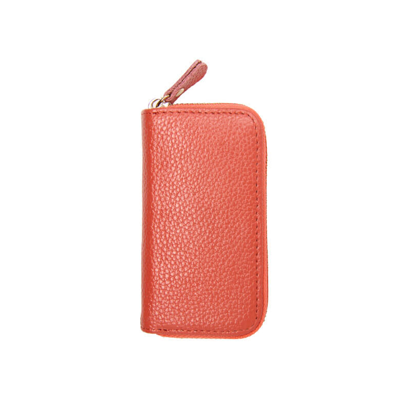 GLK002 Custom logo women genuine leather Clutch bag key organizer wallets