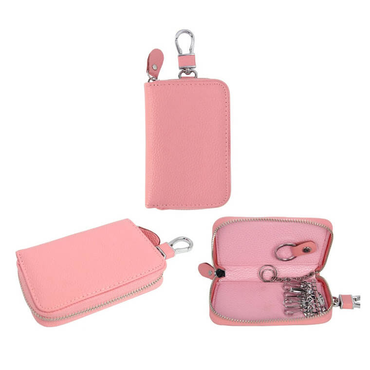GLK005 Wholesale key bag custom genuine leather key holder organizer