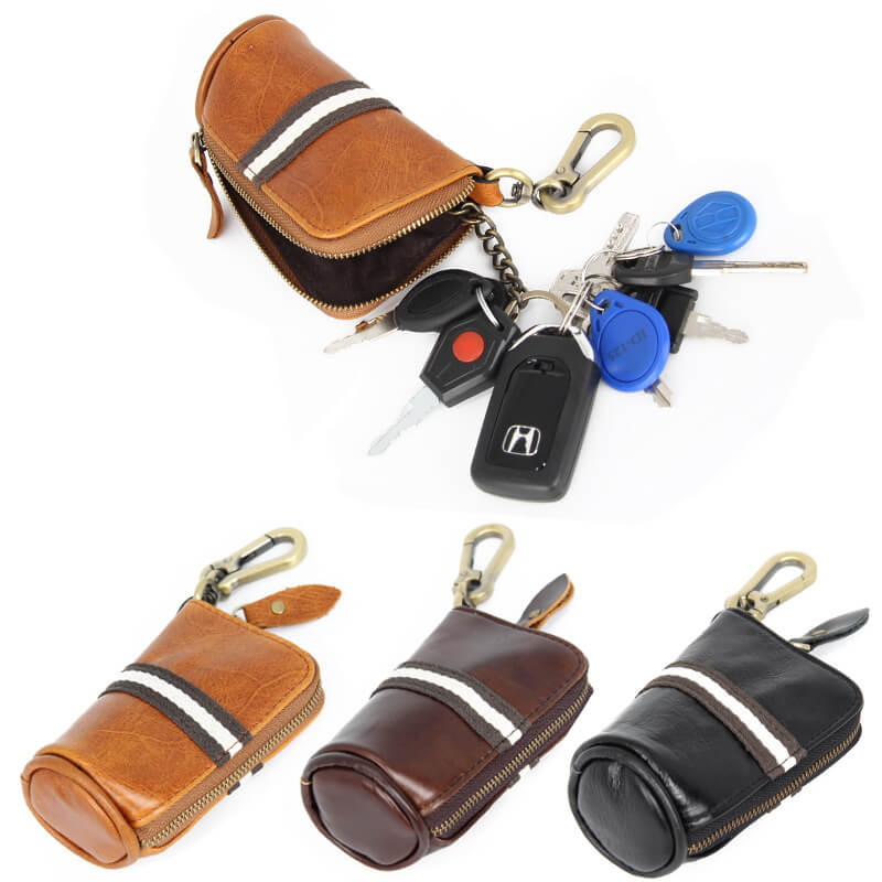 GLK006 Wholesale men genuine leather car key holders case