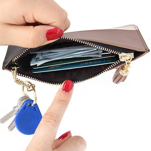 LCB002 Tassel genuine leather coin purse wallets for women
