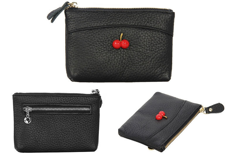 LCB006 Fashion genuine leather coin bag women clutch wallet