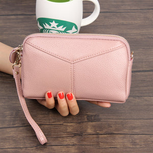 LCB010 Fashion cute long women phone purse leather travel wallets