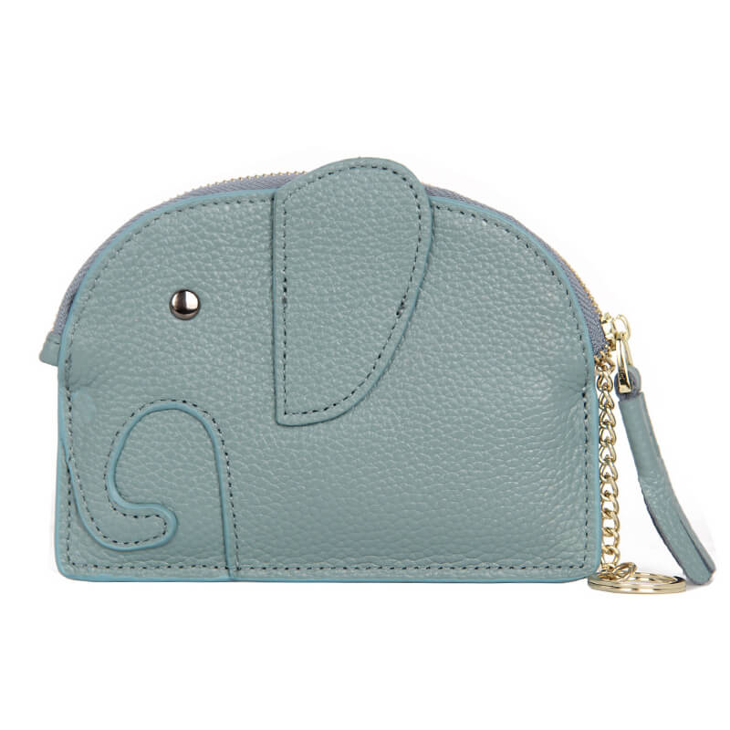 LCB013 New elephant design cute key wallets custom leather coin pouch for girls