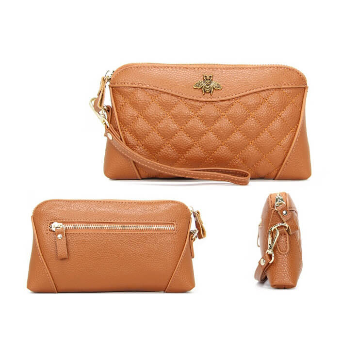 LCB015 Classic design ladies real leather money purse women clutch wallet 2020