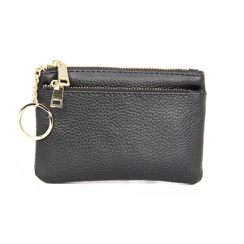 LCB019 High quality genuine leather girl small wallet zipper coin purse cute