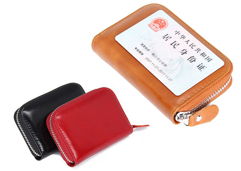 LCH005 Fashion wallet atm credit leather rfid card holder