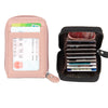 LCH008 Fashion zipper rfid blocking leather credit card holder wallet
