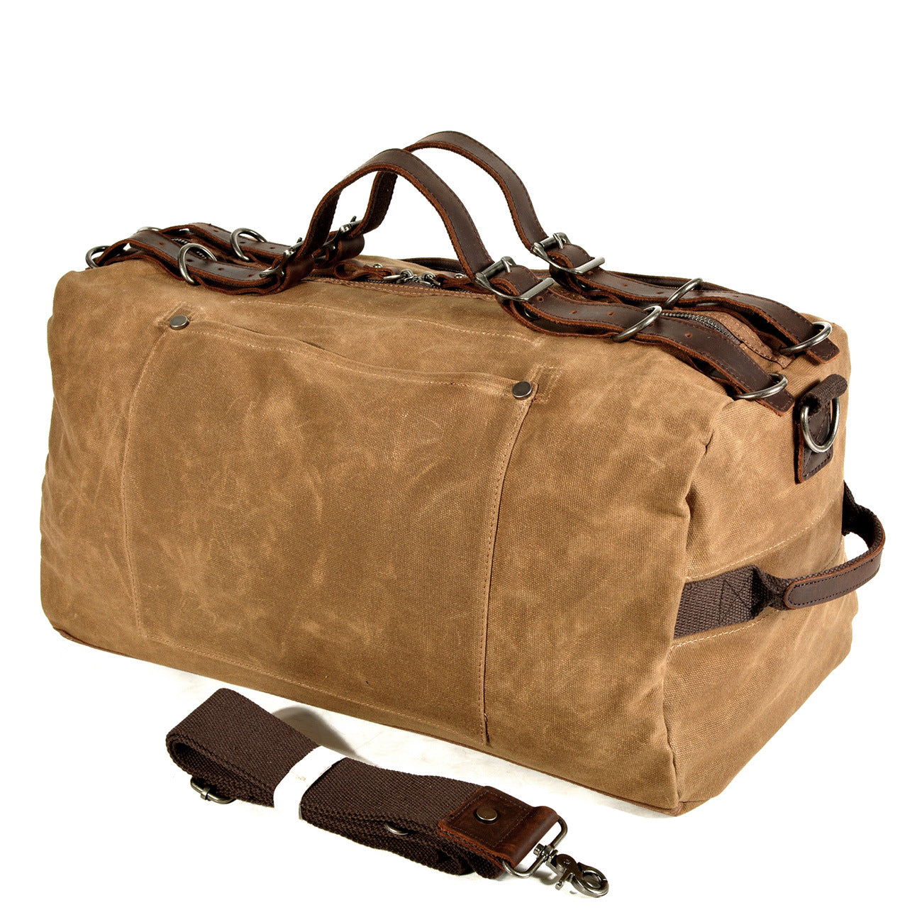 MBL034 Online shopping china vintage style mens waterproof canvas leather travel duffel bag