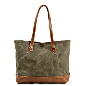 MBL046 New design travel waterproof tote bags waxed canvas tote bag