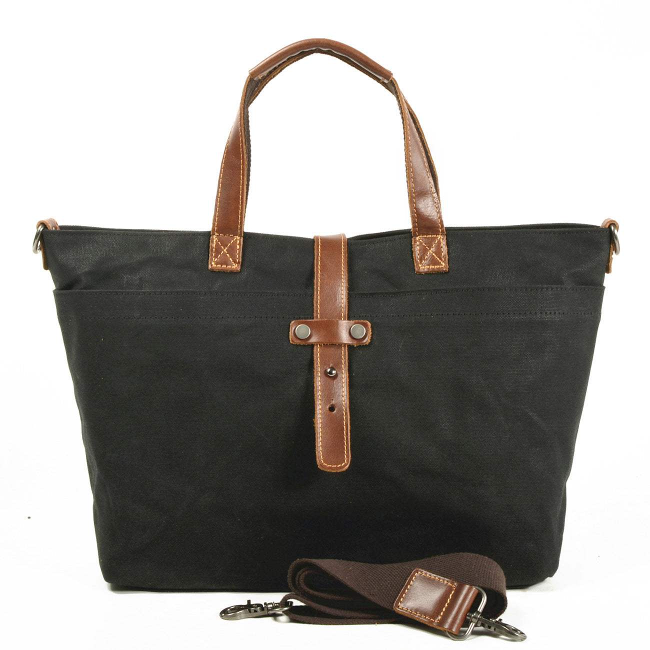 MBL048 Vintage style large capacity waterproof waxed canvas tote bag handbag