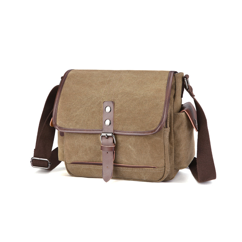 MCP023 High quality retro style mens waterproof canvas shoulder bag crossbody