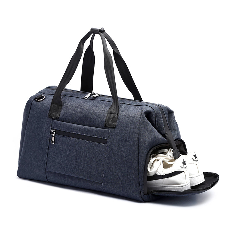 MCP024 Online shopping custom LOGO waterproof weekend gym bag mens travel bag with shoe compartment