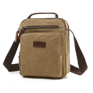 MCP034 Wholesale korea fashion waterproof canvas men small shoulder bag messenger