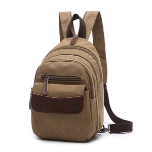 MCP035 Fashion popular design multifunctional waterproof school backpacks canvas backpack men