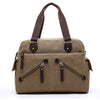 MCP036 Wholesale custom logo vintage canvas business tote bag sling bags mens shoulder bag