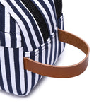 Load image into Gallery viewer, MCP043 Wholesale custom fashion canvas stripe mens wash bags storage travel makeup bag