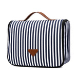 Load image into Gallery viewer, MCP045 Wholesale fashion stripe design canvas travel cosmetic bags makeup hanging toiletry bag