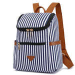 Load image into Gallery viewer, MCP046 Wholesale custom fashion stripe design canvas school bags girls small backpacks for women