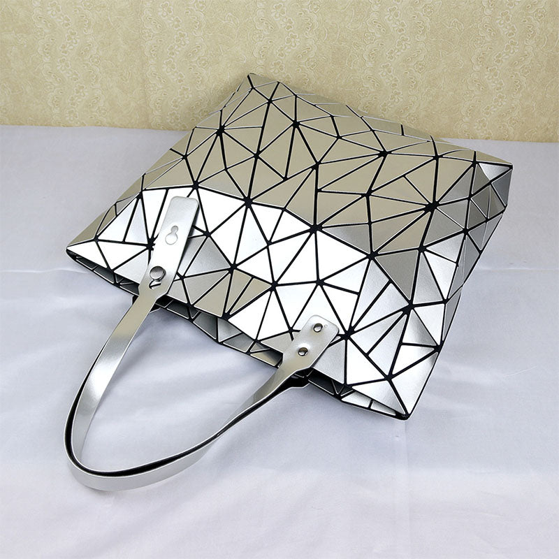 MGD001 New 2020 ladies foldable deformation geometric hologram shoulder bag bulk woman handbags luxury