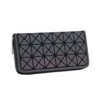 Load image into Gallery viewer, MGD002 Wholesale new geometric lattice long zipper clutch purse colorful luminous women wallet ladies