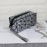 Load image into Gallery viewer, MGD003 Custom fashion geometric Rhombus holographic glow makeup bag women mini cosmetic bags cases