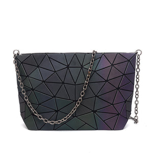 MGD004 2020 Hot sale geometric luminous metal chain shoulder bag women fashion handbags trendy