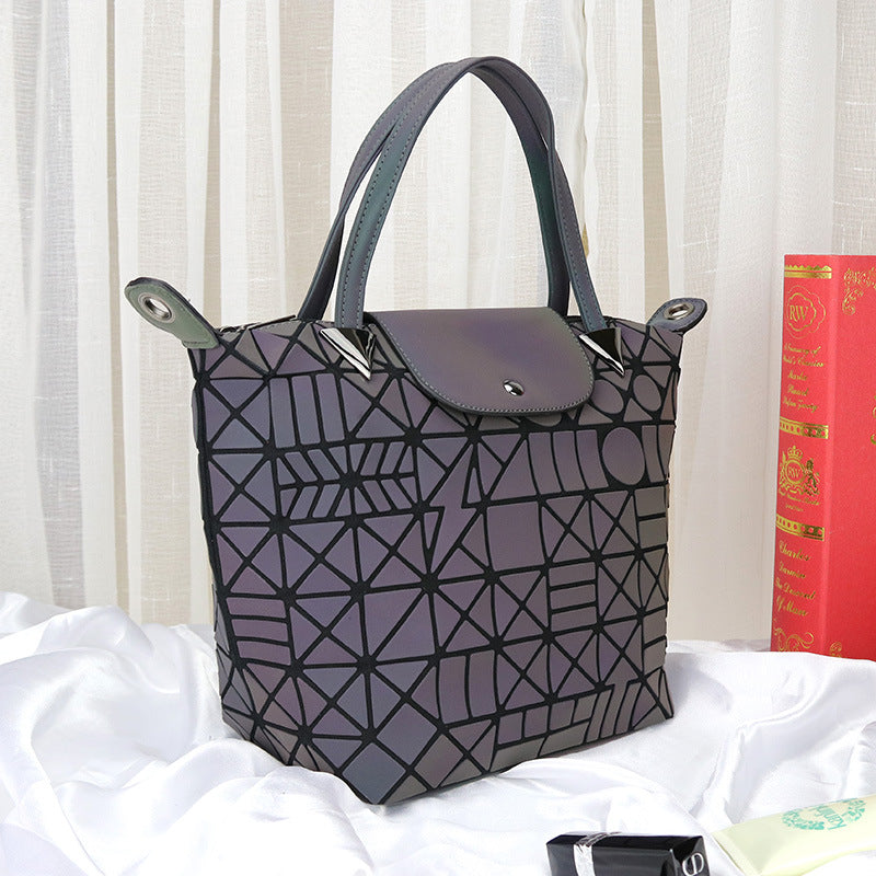 MGD019 Fashion luminous geometric holographic luxury ladies bags women handbags pu leather