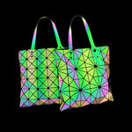 Load image into Gallery viewer, MGD020 New Arrival geometric holographic luminous folding colorful shoulder bag 2020 handbags for women luxury