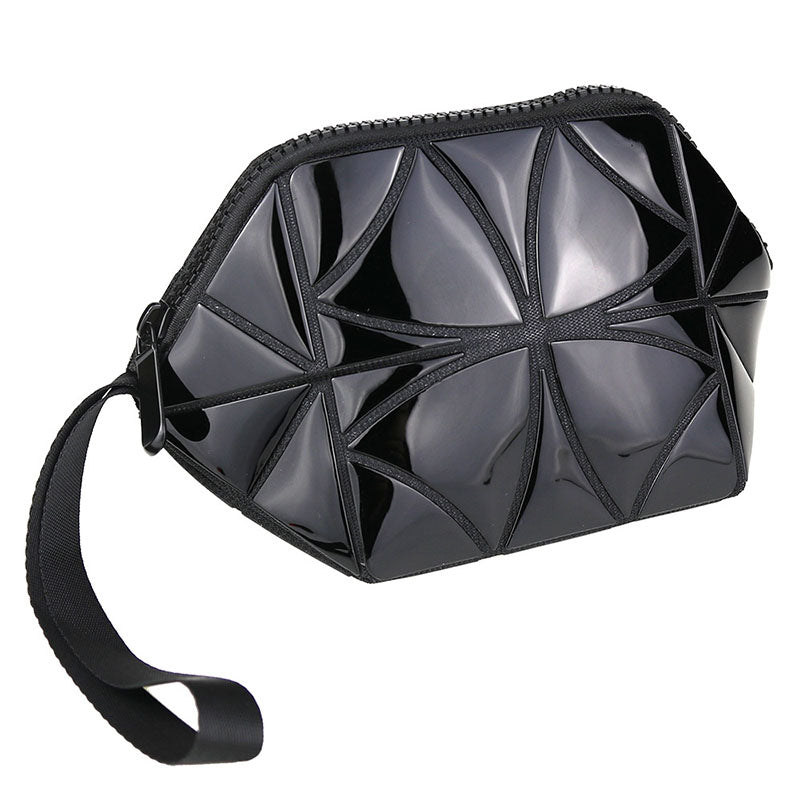 MGD023 Custom luxury folding multifunction luminous clutch mini cosmetic bag makeup