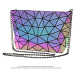 Load image into Gallery viewer, MGD024 Guangzhou wholesale new design geometric luminous reflected 3pcs pu leather purses handbags set for women
