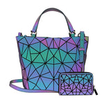 Load image into Gallery viewer, MGD028 Fashion geometric lattice luminous shoulder crossbody  leather purses handbags women