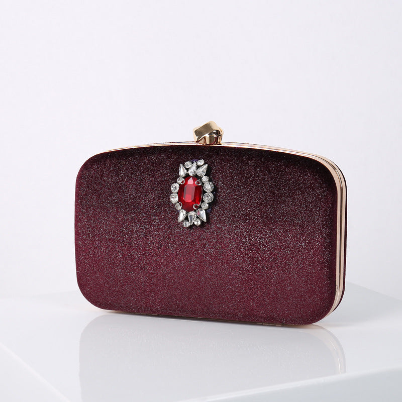 N524 New red diamond elegant design ladies wedding purse evening clutch bags