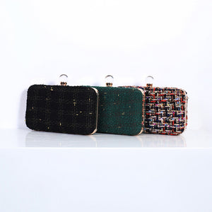 N525 Wholesale high quality woven ladies party bags wedding clutch purses evening handbag