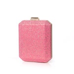 Load image into Gallery viewer, N526 Wholesale custom PVC elegant ladies pink party bridal clutch glitter evening bag