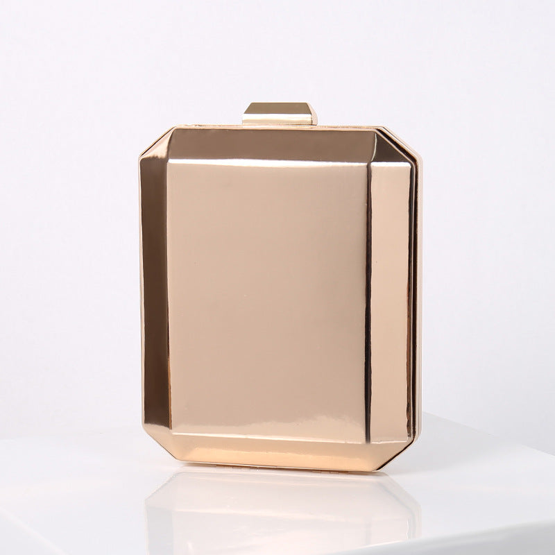 N527 New fashion high quality PVC women gold clutch evening bag 2020