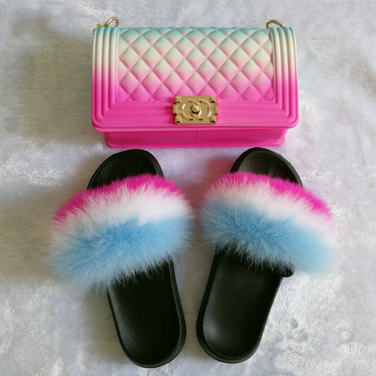 SHB295 wholesale colorful jelly PVC beach jelly purse set matching shoes and handbags for women
