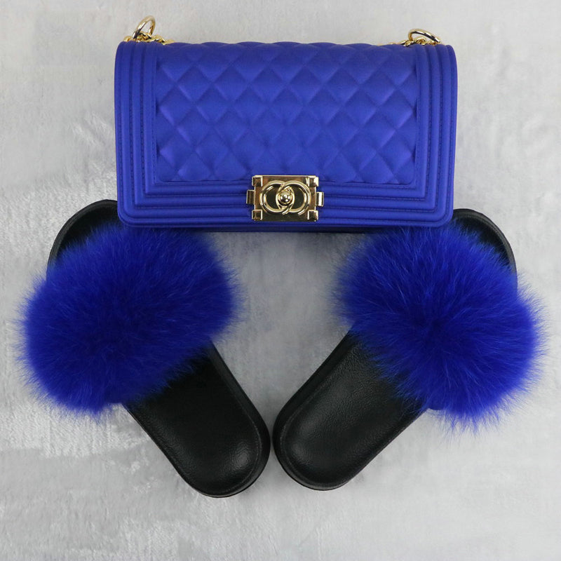 SHB316 New 2020 women crossbody purse handbags jelly bags and fur slides