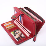 Load image into Gallery viewer, W397 China supply vintage style long clutch purse custom wallet for women 2020