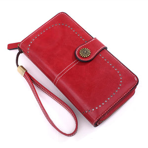 W397 China supply vintage style long clutch purse custom wallet for women 2020