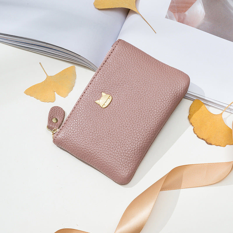 W399 Hot fashion cute pu leather women purses ladies zipper wallet private label