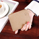 Load image into Gallery viewer, W403 New arrival fashion short multi-card pu leather shiny purse sequined wallet women