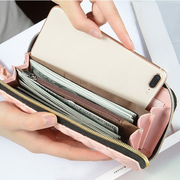 W405 High-capacity fashion designer phone money bag ladies wallets and purses